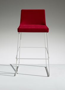 FLEET 7, Fixed height stool with footrest
