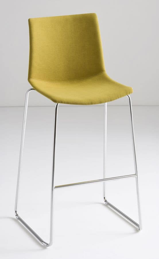 Kanvas Stool Front ST, Metal barstool, seat covered in fabric