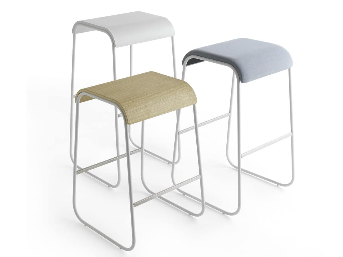Lineo 47-65-73-82, Stool made of wood, without backrest