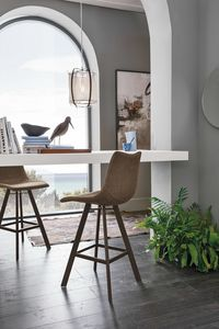 MAIORCA PLUS SG197, Modern stool with painted metal base
