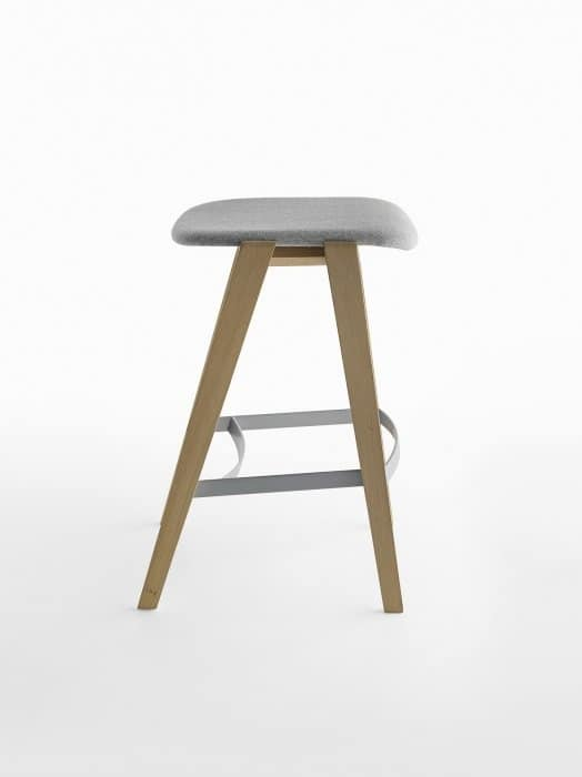 Mixis 65, Wooden stool without backrest, fixed height