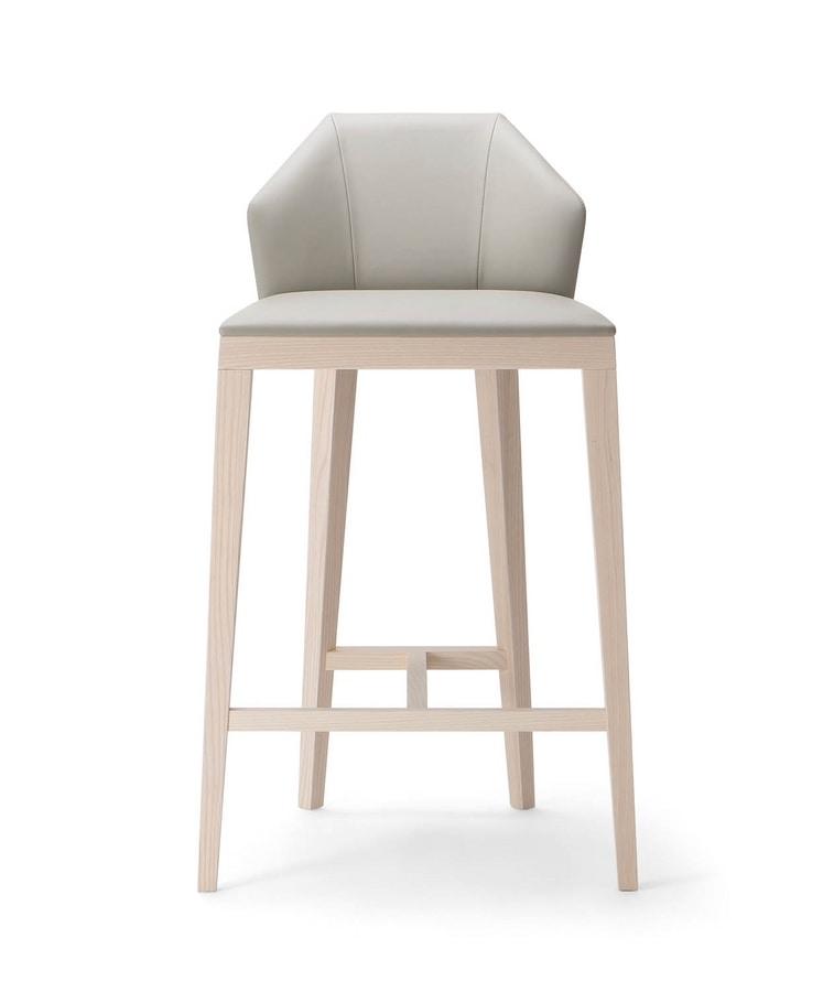 ROCK STOOL 020 SG, Modern stool, with a geometric backrest