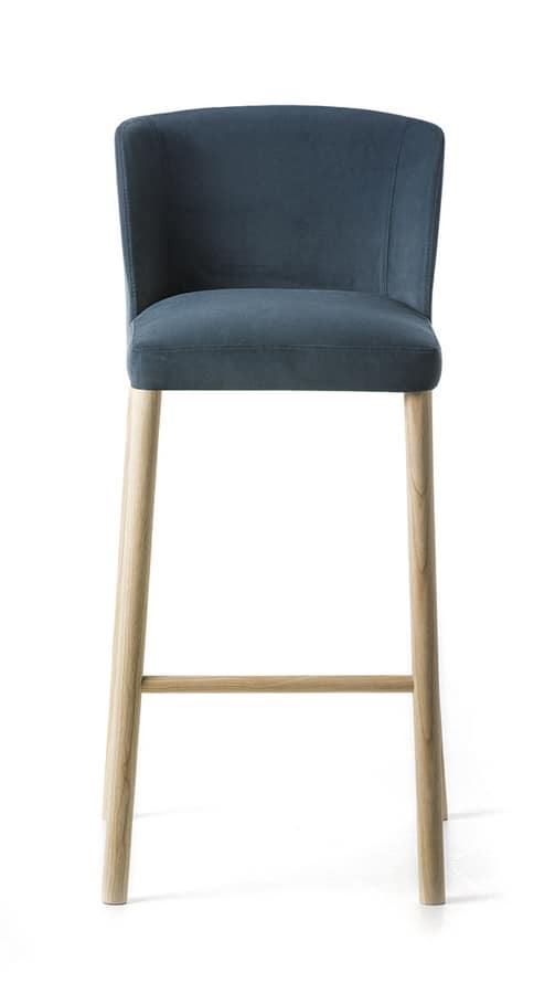 Virginia ST 4WL, Stool with essential design, solid and comfortable