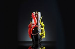 4 Gechi Big Vase, Handcrafted glass vase