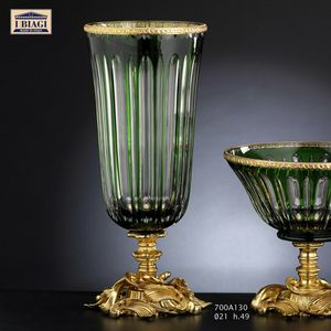 730-760-700Axxx, Vases and decorative objects in crystal, gold and bronze