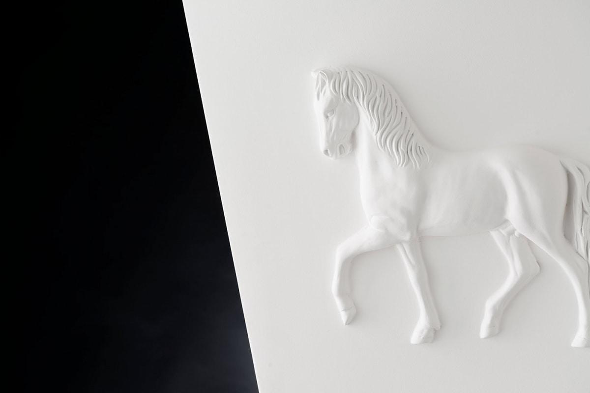 Cubo Horse Relief Vase, Decorative ceramic vase