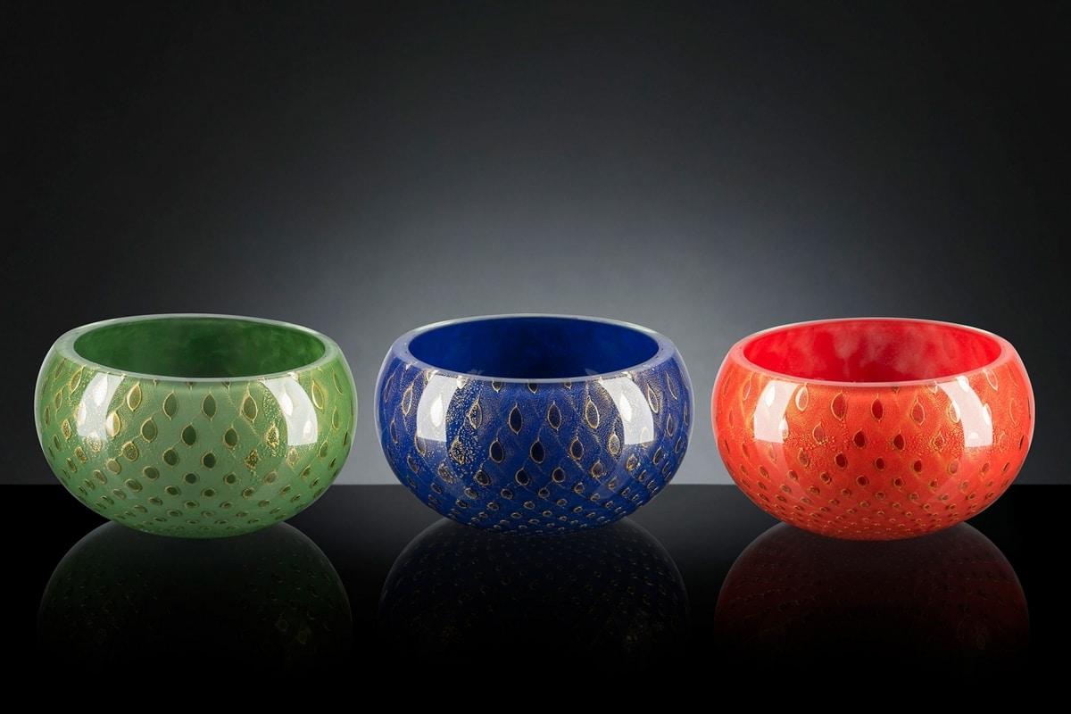 Mocenigo vase bowl, Decorative vase in blown glass