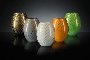 Mocenigo Vase Oval, Oval glass vase