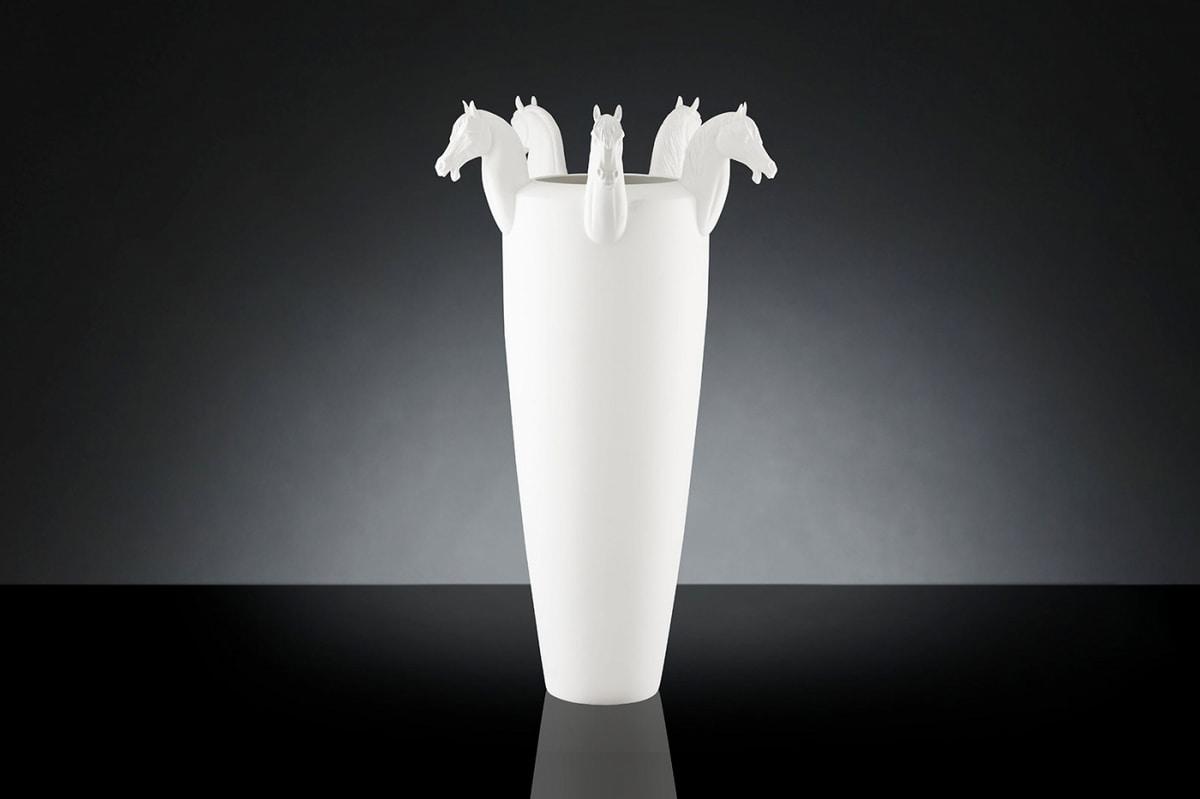 Obice Horse 5 Heads Vase, Handmade ceramic vase