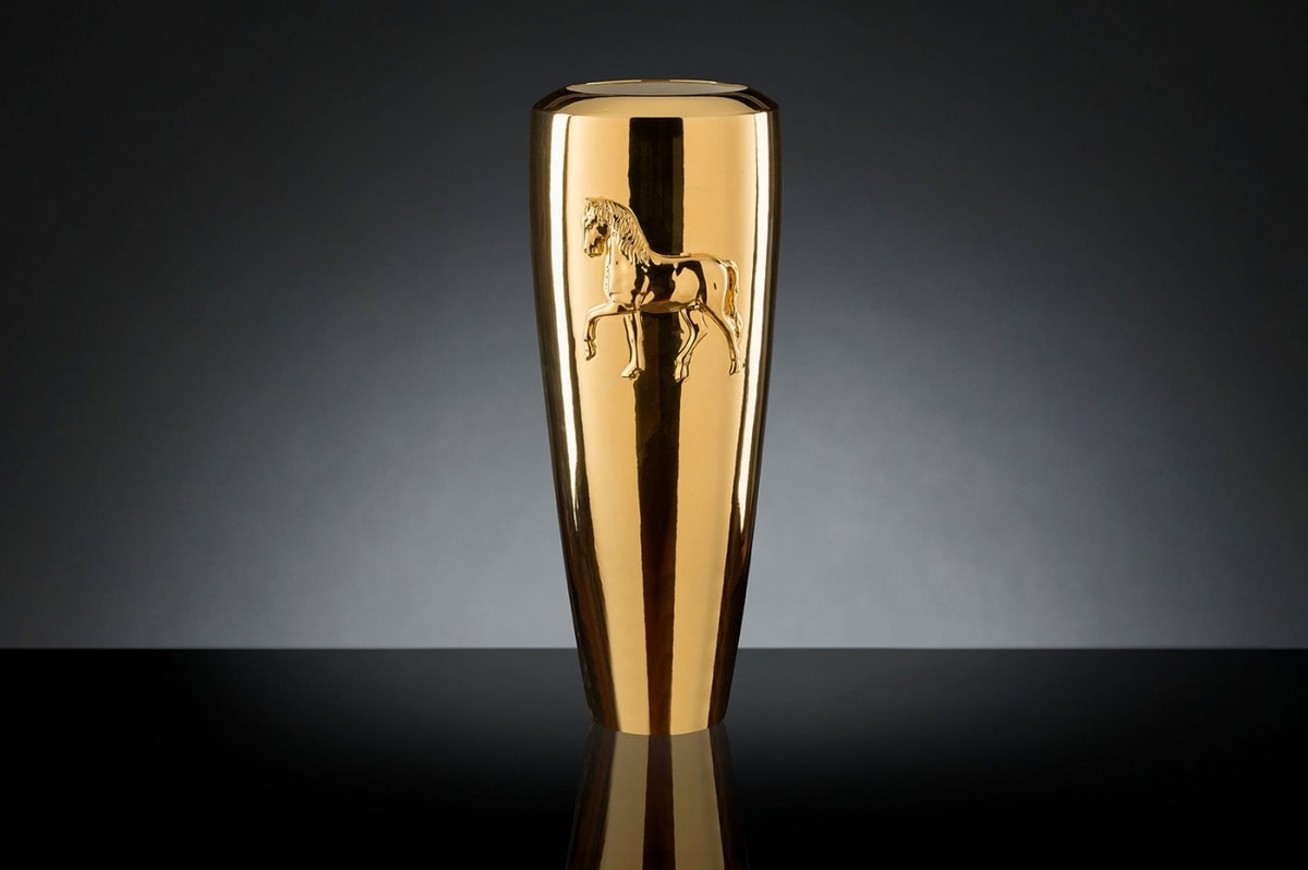 Obice Horse Relief Vase, Modern decorative vase