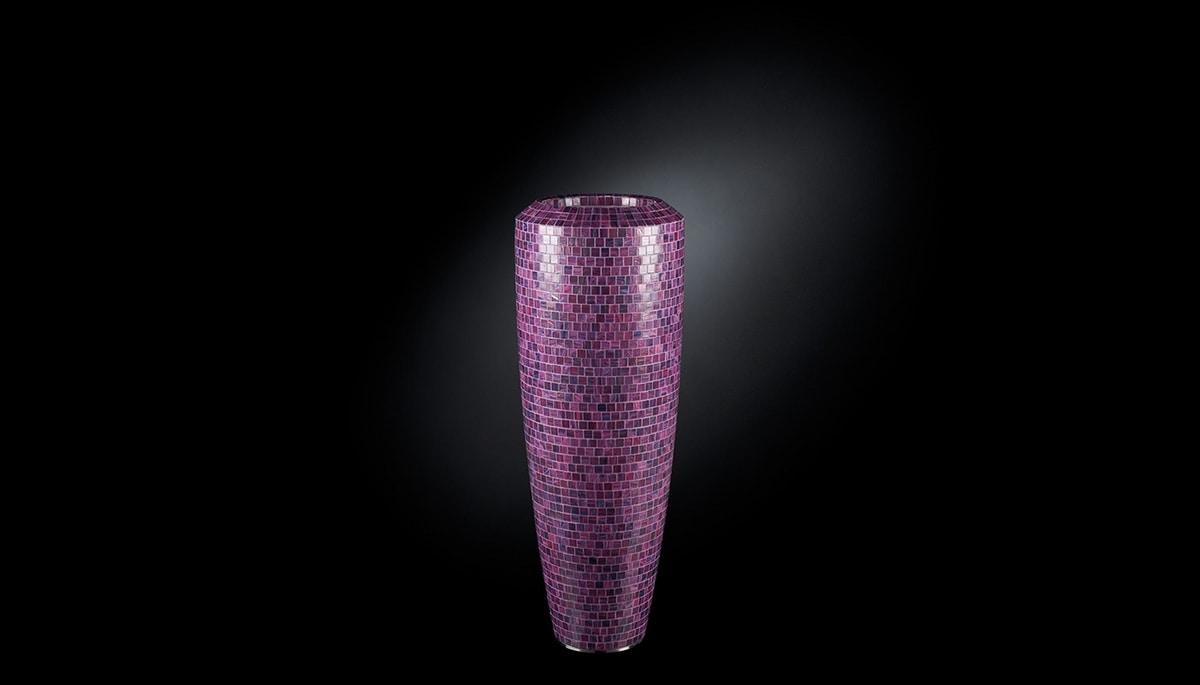 Obice Small Mosaico Bisazza, Decorative vase with Bisazza mosaic covering