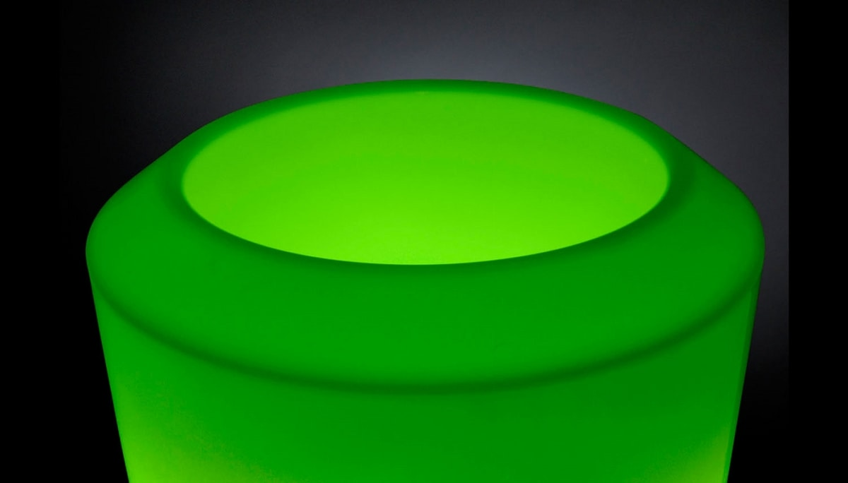 Obice Small, Luminous vase with LED light