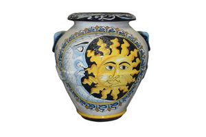 Orcio Sole e Luna Classic, Terracotta jar decorated