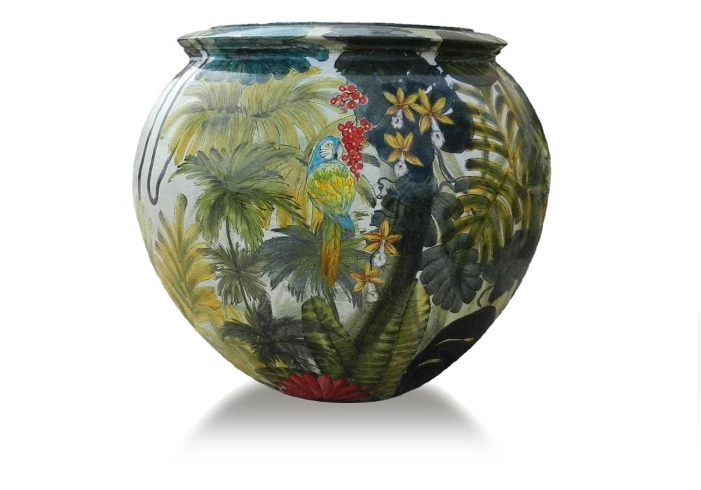 Sphere-Pot Amazzonia, Spherical jar in terracotta