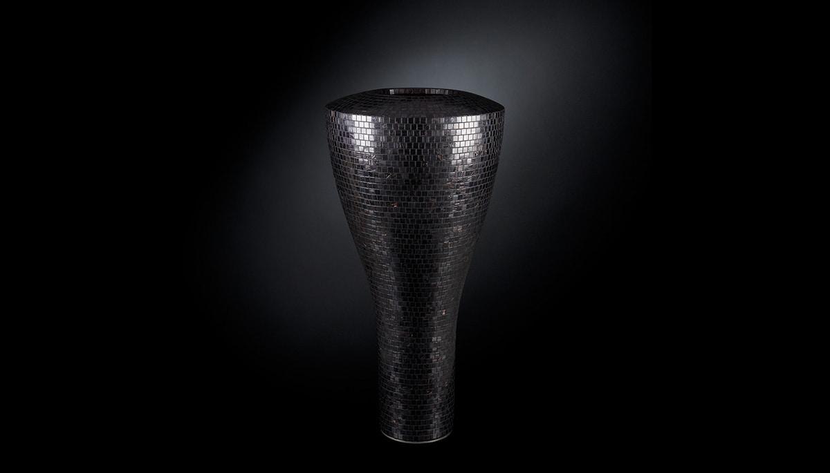 Tippy Mosaico Bisazza, Vase with mosaic coating