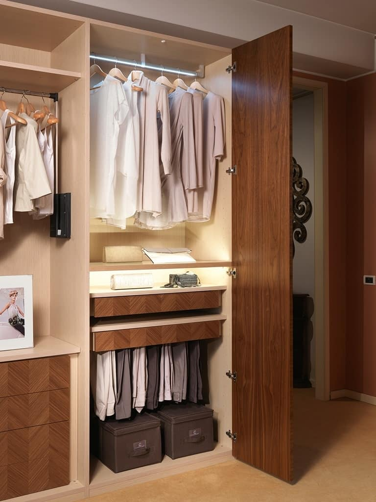 AR25 Desyo wardrobe, Modular walk in closet with shelves, cabinets and drawers