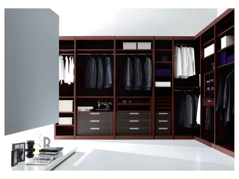 ATLANTE walk-in wardrobe comp.01, Walk-in closet of high design, with aesthetic layout