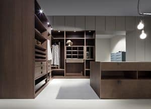 ATLANTE walk-in wardrobe comp.03, Modern wardrobe room, space optimization