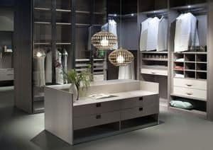 ATLANTE walk-in wardrobe comp.05, Walk-in closet, aesthetic order, customizable measures