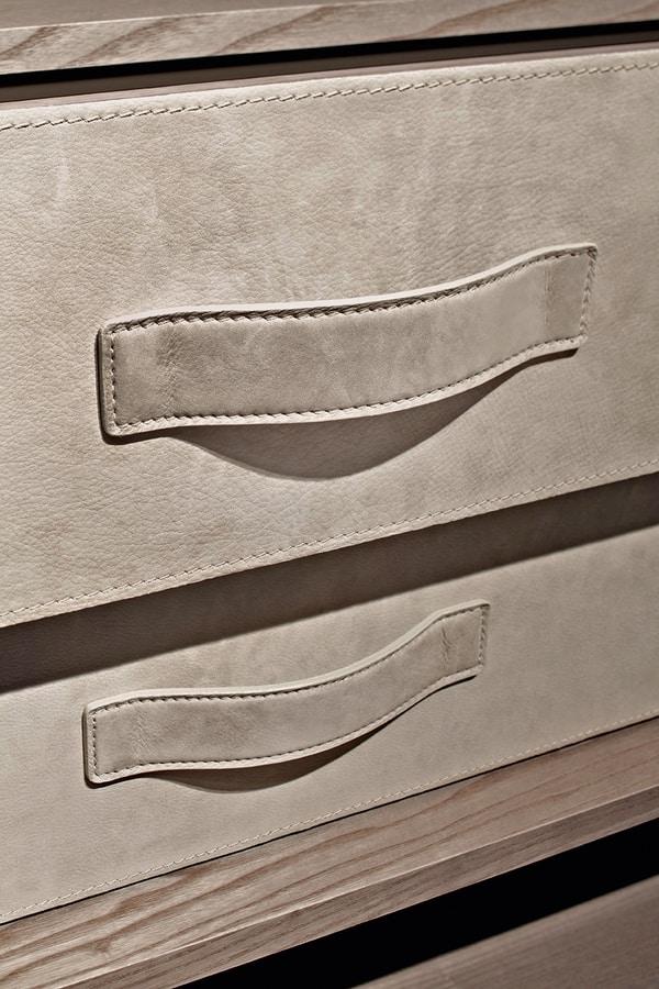 ATLANTE walk-in wardrobe comp.06, Walk-in closet, space optimization, various finishes