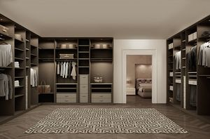 ATLANTE walk-in wardrobe comp.08, Bedroom cabinets in oak, space optimization