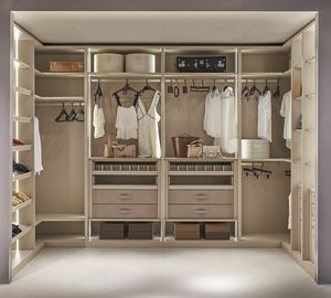 ATLANTE walk-in wardrobe comp.13, Sectional walk-in closet