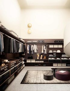 Avenue, Wooden walk-in closet, with customizable accessories