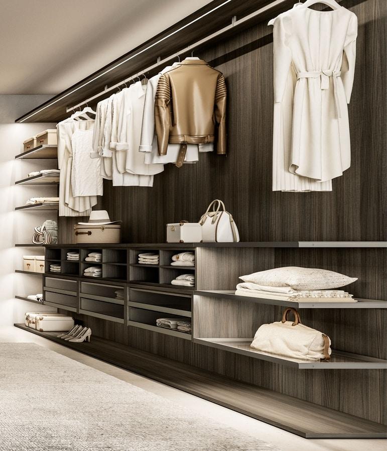 DEUS, Walk-in closet with a modern design
