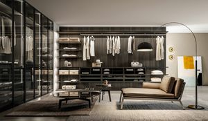 DEUS, Walk-in closet with a modern design