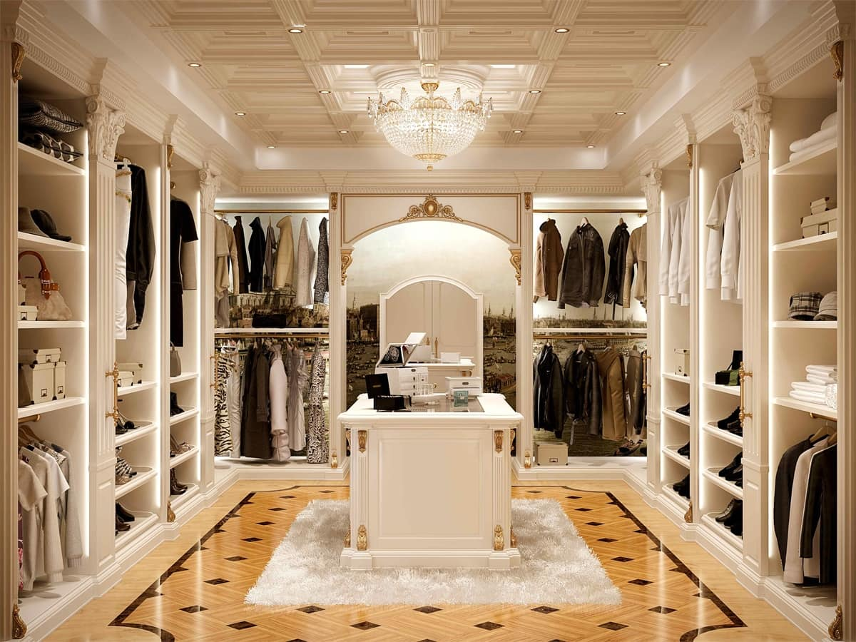 Walk In Closet In Classic Style Luxurious Idfdesign