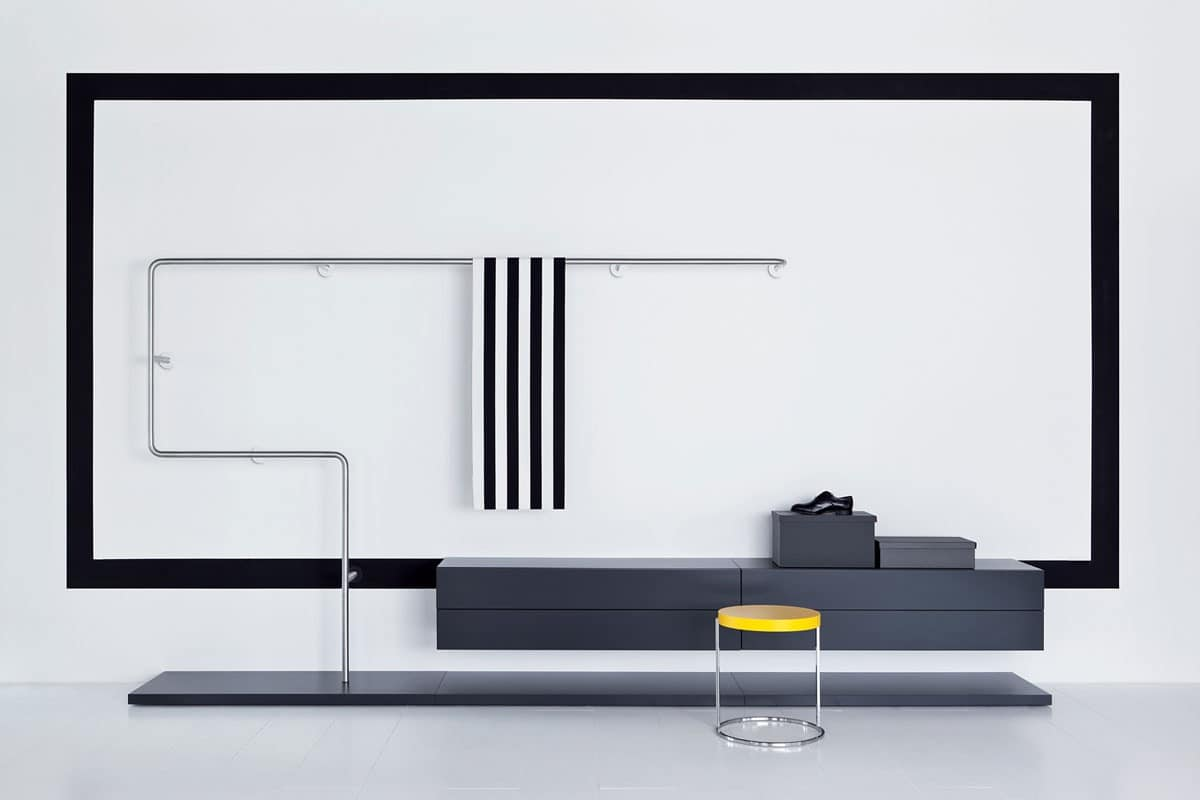 Libera & Snake, Functional and modular walking closet, various finishes