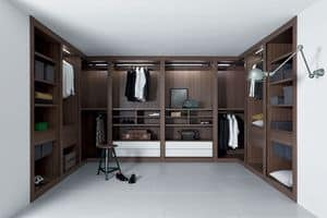 Sipario closet, Modular cabinet system, accurate finishes