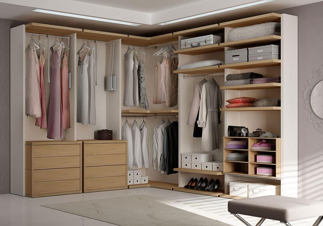 Modern Walk In Closet With Angular Element Idfdesign