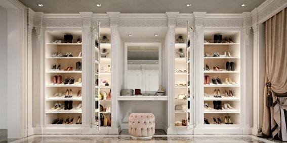 Walk-in closets 9700, Classic luxury walk-in closet
