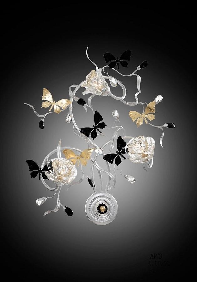 21523, Applique with decorative butterflies