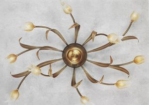 744010, Ceiling lamp with flower-shaped diffusers