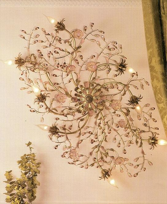 91208/gold, Gold leaf ceiling lamp