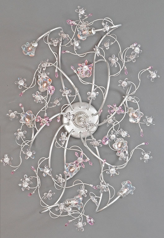 988010, Ceiling lamp with glass flowers