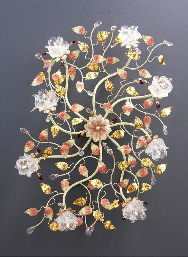 99008, Ceiling lamp with a floral design