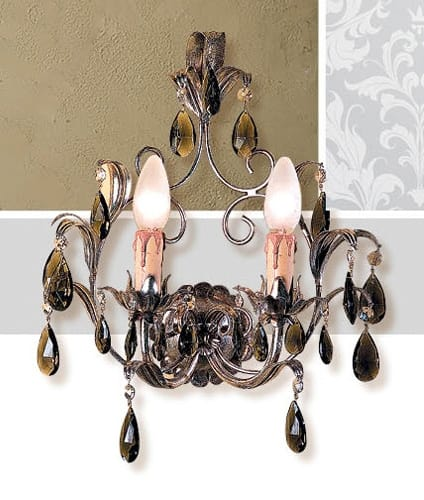 A.6665/2, Wall lamp with silver leaf finishes