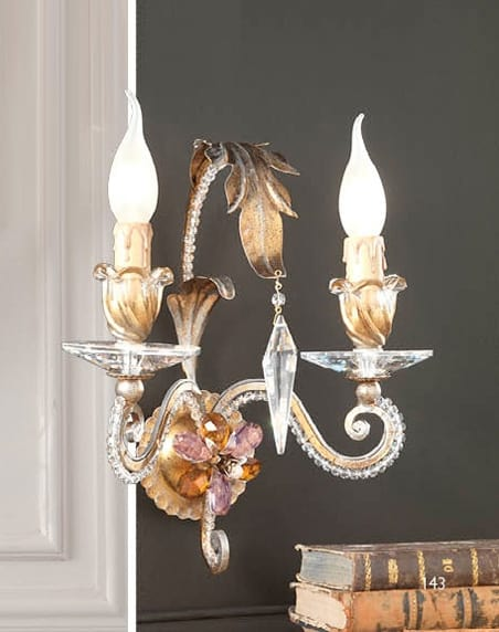 A.8130/2, Wall lamp with Swarovski crystals