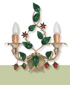 A.8335/2, Wrought iron wall light with strawberry decoration