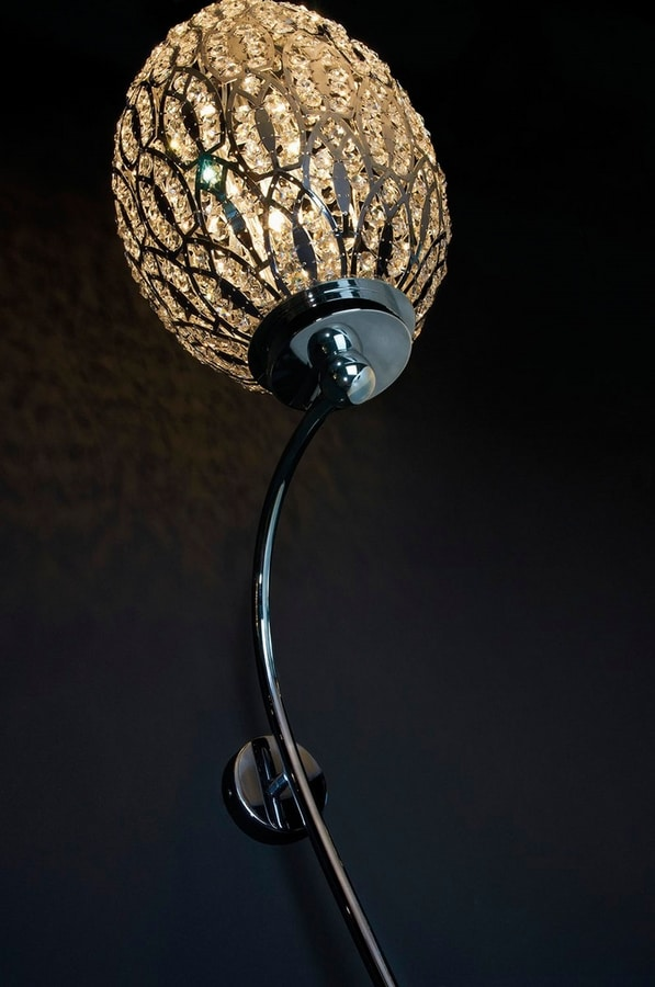 Arabesque Ionico Egg, Wall lamp with egg-shaped diffuser