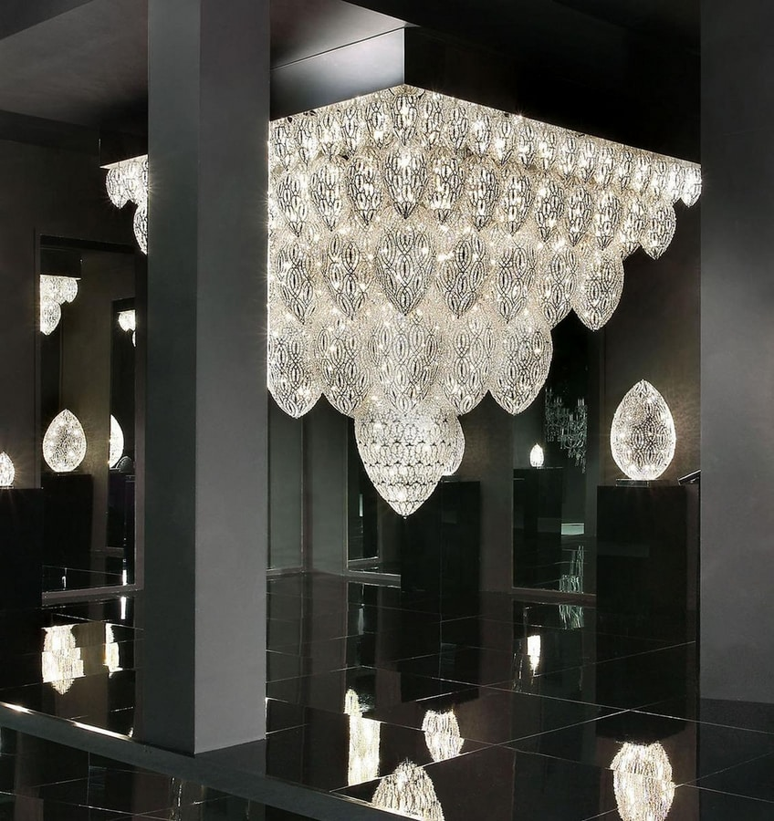 Arabesque Tutankhamon, Extra large custom LED chandelier