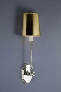 Art. 2200-01-00, Wall lamp in pvc and nickel