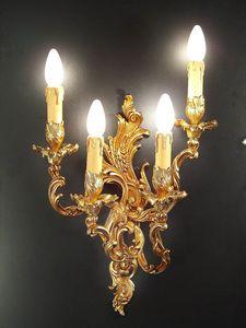 Art. 2200/A4, Brass applique with 4 lights