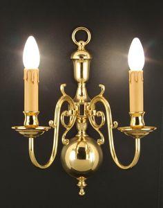 Art. 240/A2, Brass applique with 2 lights