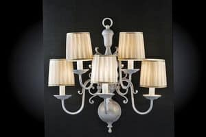 Art. 240/A5, Classic style wall lamp with five lights
