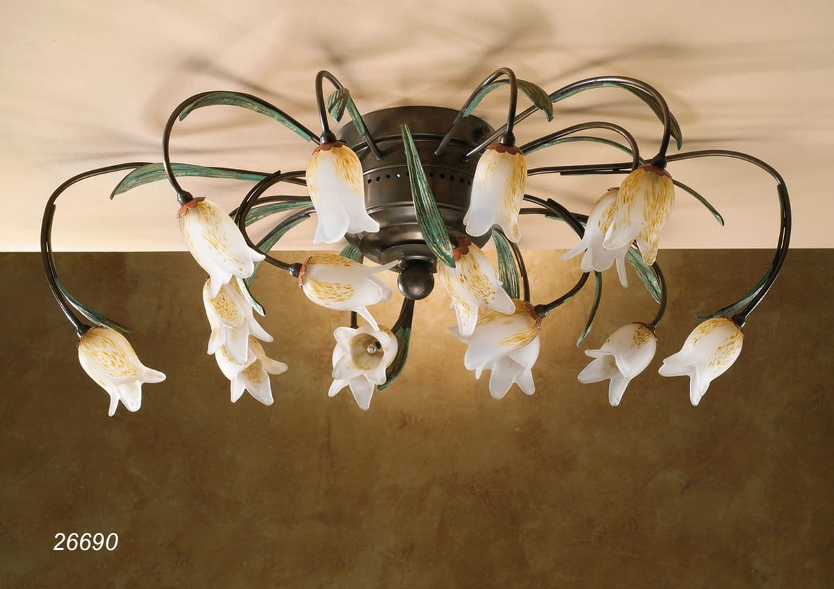 Art. 26690 Butterfly, Handcrafted ceiling lamp with classical design
