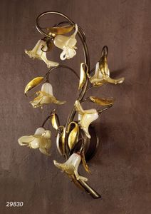Art. 29830 Jolie, Wall lamp in brass and blown glass
